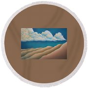 Sacred Night Round Beach Towel