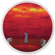 Sacred Pool Round Beach Towel