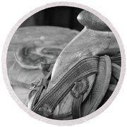 Saddle Sore Round Beach Towel
