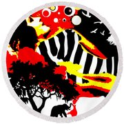 Safari Dreams Round Beach Towel