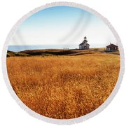 Safe At Home Round Beach Towel