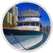 Yacht - Safe Harbor Series 39 Round Beach Towel