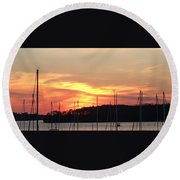 Safe Harbor Sunset Round Beach Towel