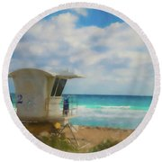 Safe Harbour Round Beach Towel