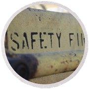 Safety First Round Beach Towel