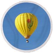Saguaro Balloon Round Beach Towel