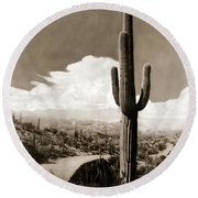 Saguaro Cactus 3 Round Beach Towel