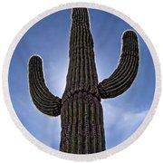 Saguaro Cactus Round Beach Towel