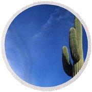 Saguaro Cactus H Round Beach Towel