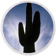 Saguaro Catus Silo Round Beach Towel