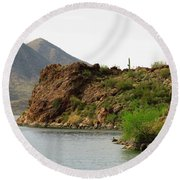 Saguaro Lake Shore Round Beach Towel