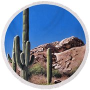 Saguaro National Monument Round Beach Towel