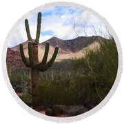 Saguaro National Park Round Beach Towel