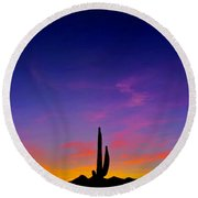 Saguaro Song Round Beach Towel