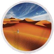Sahara Desert, Algeria Round Beach Towel