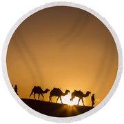 Sahara Desert Sunset Round Beach Towel