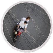 Saigon Wires Round Beach Towel
