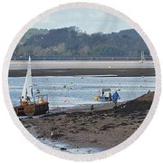 Sail Boat Round Beach Towel