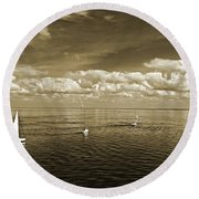 Sail Boats 1 Round Beach Towel