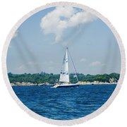 Sail1 Round Beach Towel