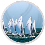 Sailboat Championship Regatta Round Beach Towel
