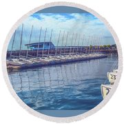 Sailboat Classes Round Beach Towel