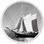 Sailboat - Id 16235-142735-0101 Round Beach Towel