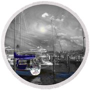 Sailboat Series 14 Round Beach Towel