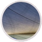 Sailcloth Abstract Times Two Round Beach Towel