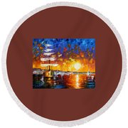 Sailer Round Beach Towel