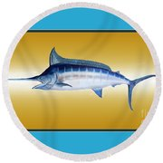 Marlin Round Beach Towel