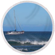 Sailing And Sunshine Round Beach Towel