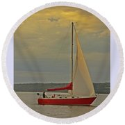 Sailing Away Round Beach Towel