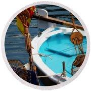 Sailing Dories 1 Round Beach Towel