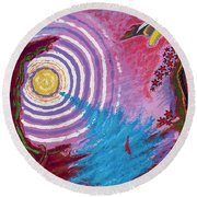 Sailing Through My Thoughts Round Beach Towel
