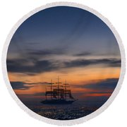 Sailing To The Moon 2 Round Beach Towel