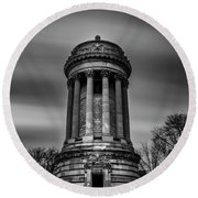 Sailors And Soldiers Monument Round Beach Towel