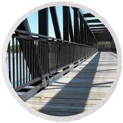 Saint Charles Walking Bridge Round Beach Towel