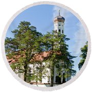 Saint Coloman Church 3 Round Beach Towel