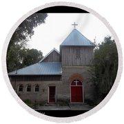 Saint Cyprians Episcopal Church Round Beach Towel