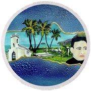Saint Damien And Molokai #257 Round Beach Towel