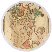 Saint Dorothy Round Beach Towel