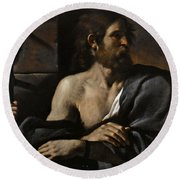 Saint John The Baptist In Prison Visited By Salome Round Beach Towel