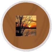 Saint Johns River Sunset  Round Beach Towel