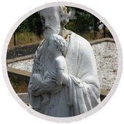 Saint Joseph Round Beach Towel