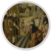 Saint Lawrence Before The Prefect Round Beach Towel