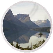Saint Marys Lake Round Beach Towel
