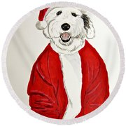 Saint Nick Round Beach Towel