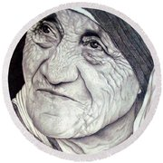 Mother Teresa Saint Of Calcutta  Round Beach Towel