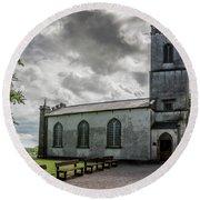 Saint Patricks Church On The Hill Of Tara Round Beach Towel
